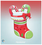 Kawaii Red Christmas Stocking