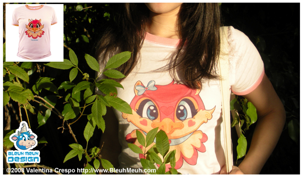 Kawaii Valentina Heart Owl Tee by KawaiiUniverseStudio