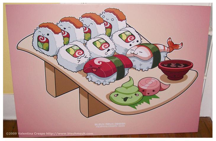 Kawaii Sushi Roll n Nigiri FAP by KawaiiUniverseStudio