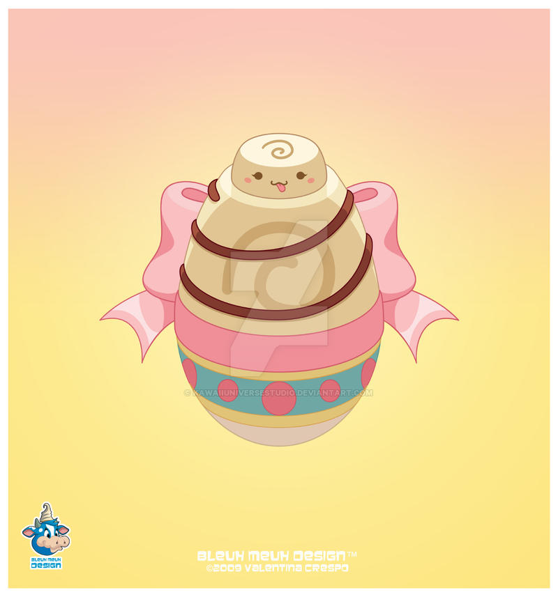 Kawaii White Choco Easter Egg by KawaiiUniverseStudio