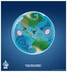 Kawaii Earth Western Hem by KawaiiUniverseStudio