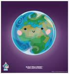 Kawaii Earth Eastern Hem by KawaiiUniverseStudio