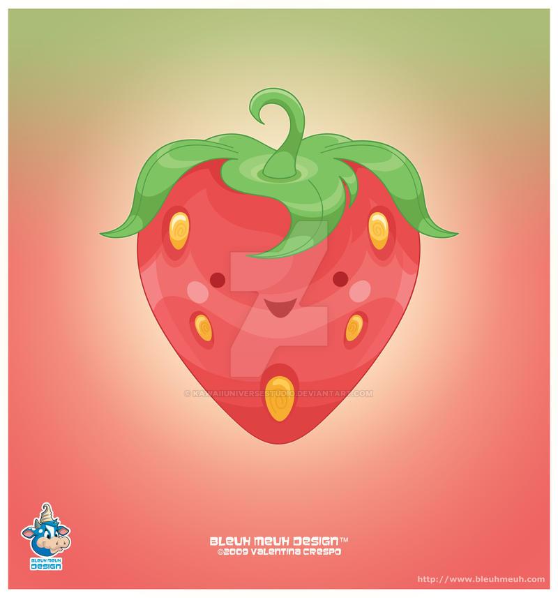 Kawaii Ichigo Strawberry by KawaiiUniverseStudio