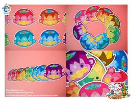 Kawaii Kappa Vinyl Cling 8 Set by KawaiiUniverseStudio