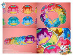 Kawaii Kappa Vinyl Cling 8 Set