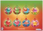 Kawaii Xmas Ornament Group