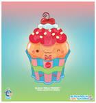 Kawaii Butterscotch Cupcake