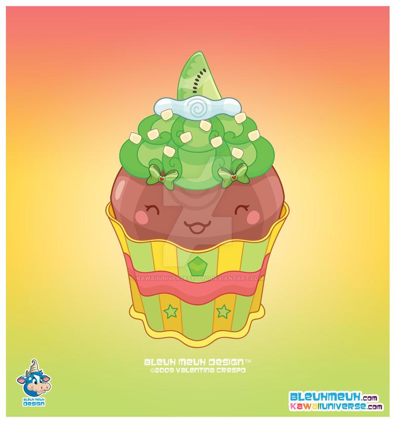 Kawaii Semisweet Choco Cupcak by KawaiiUniverseStudio