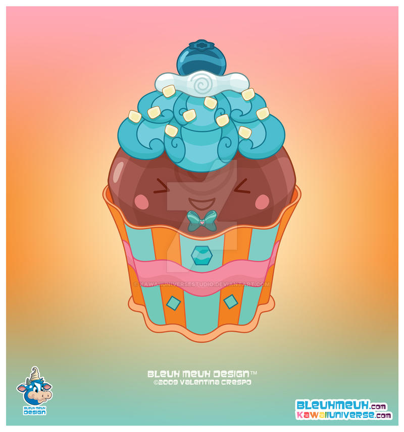 Kawaii Bittersweet Cupcake by KawaiiUniverseStudio