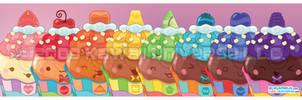 Kawaii Cupcake Spectrum by KawaiiUniverseStudio