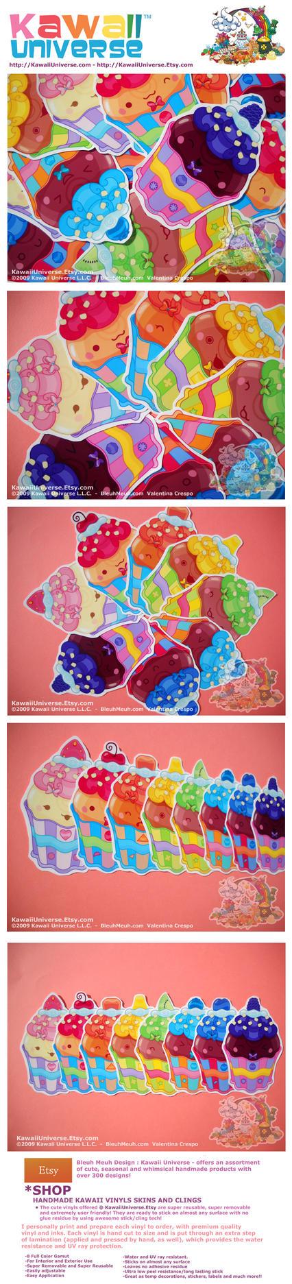 Kawaii Handmade Cupcake Vinyls by KawaiiUniverseStudio