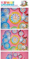 Kawaii Time Fly Clock Vinyls by KawaiiUniverseStudio