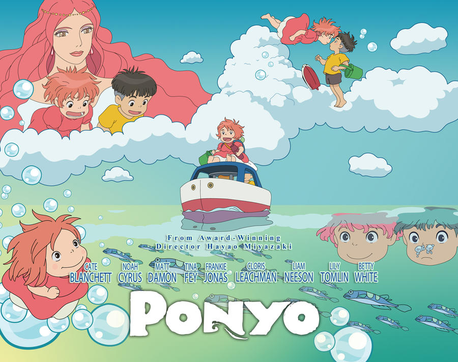 Ponyo Kawaii Make a Splash AD by KawaiiUniverseStudio