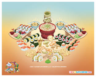 Kawaii Sushi and J Cuisine by KawaiiUniverseStudio