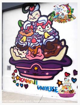 Kawaii Icre Cream Sundae Mural