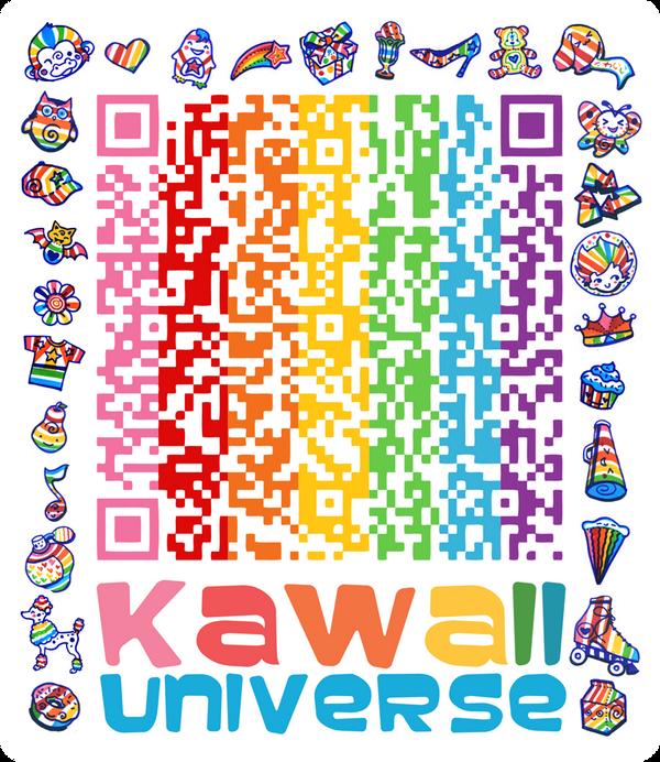 kawaii sd cute shapes qr code by kawaiiuniversestudio on