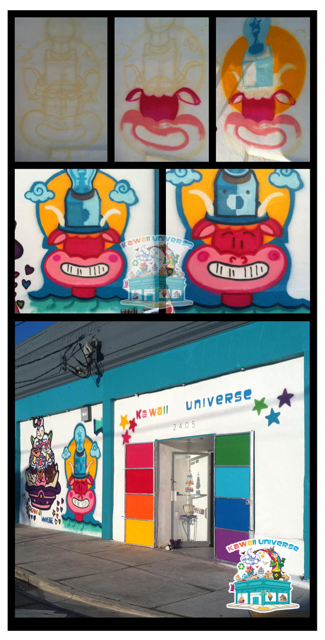 Kawaii Universe - Warmup Mural for RedBull Flugtag by KawaiiUniverseStudio