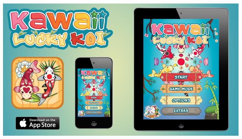 Kawaii Lucky Koi iPhone and IPad Screen Shot by KawaiiUniverseStudio