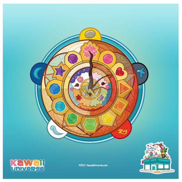 Kawaii 2013 Mother Nature Clock by KawaiiUniverseStudio