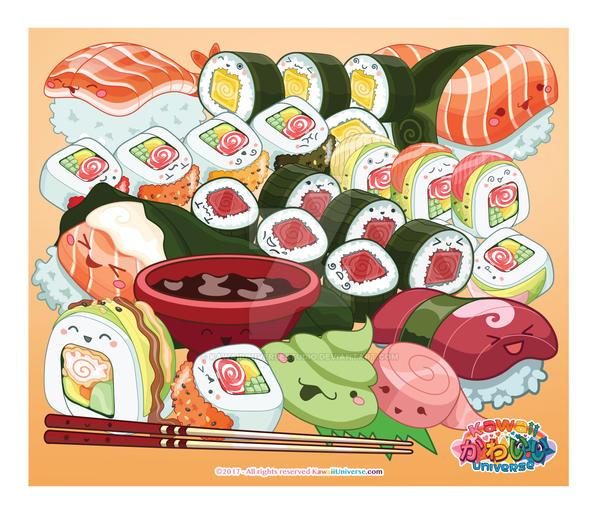 Kawaii Universe - Cute Sushi Bonanza ( September ) by KawaiiUniverseStudio