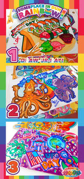 SomePlace In Duh! RAINBOW   Draw-UR-day  1 2  3  