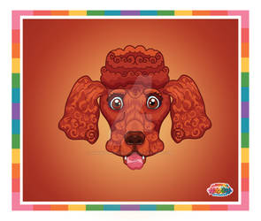 Kawaii Universe - Cute Red Poodle Pet Commission