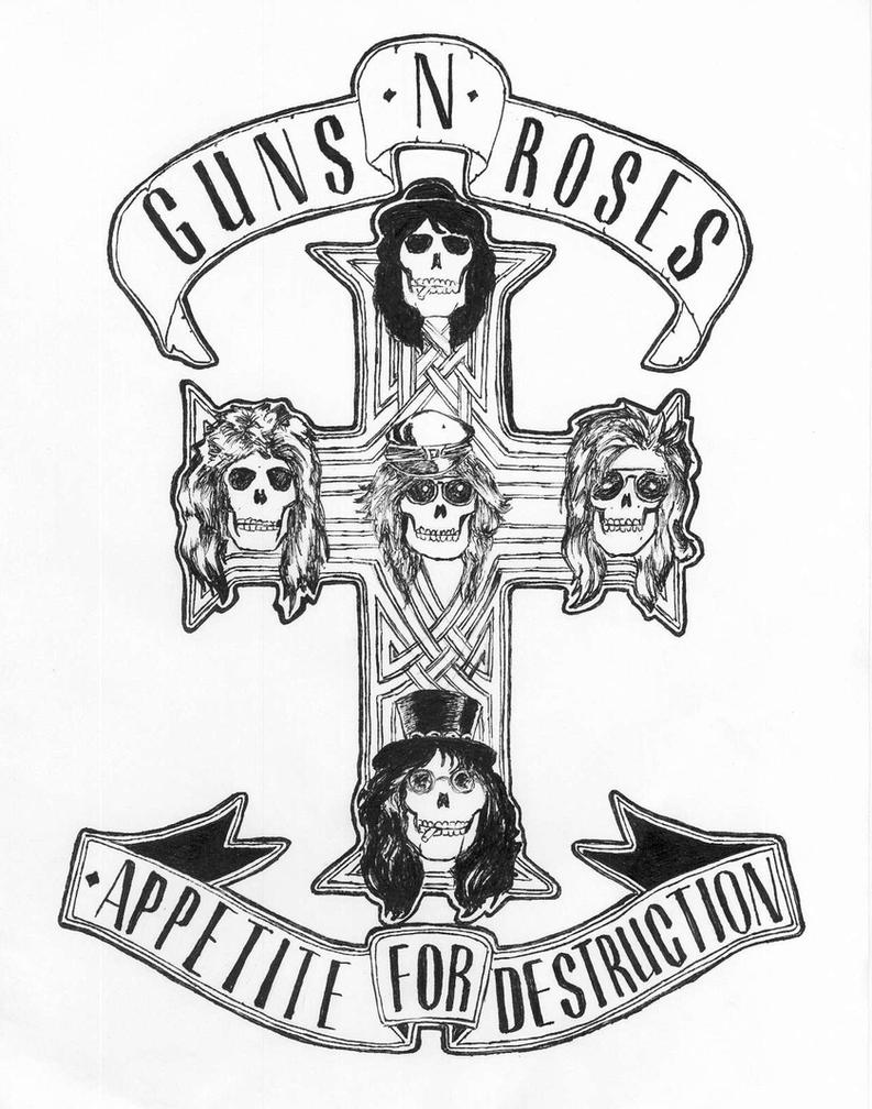 Appetite for Ink by uberkid64Guns N Roses Logo Black And White