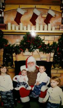 My kids with Santa