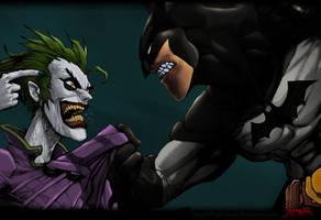 Batman: Come on hit me. by commanderlewis