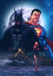 Batman and Superman recolored