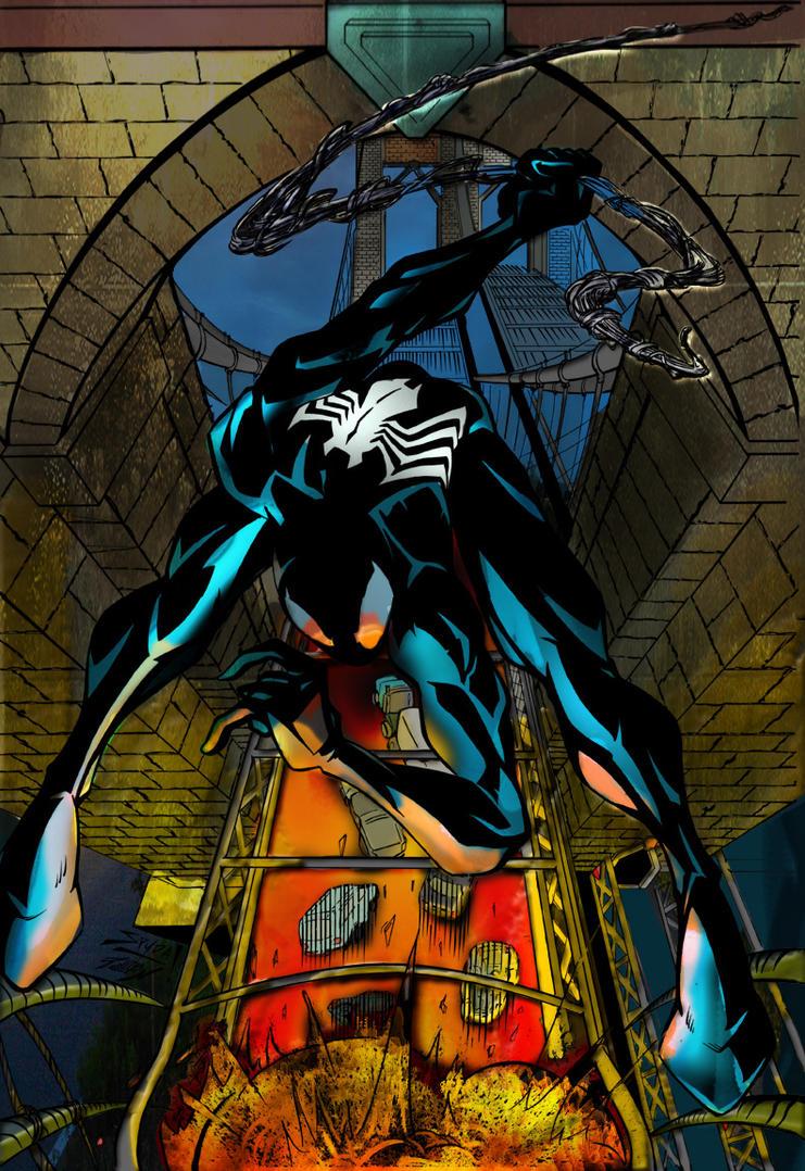Symbiote Spiderman by commanderlewis on DeviantArt