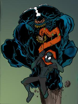 Symbiote Spiderman vs Venom by commanderlewis on DeviantArt