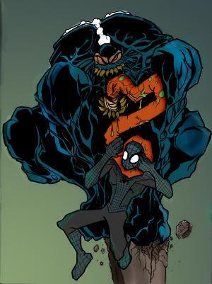 Symbiote Spiderman vs Venom by commanderlewis on DeviantArt