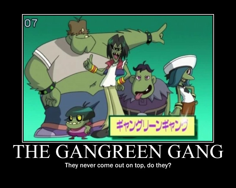 Gangreen Gang demotivator by Sexiecutie5555