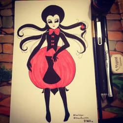 365 Challenge - Day 75 Black Widow by ChibikkoBluePencil