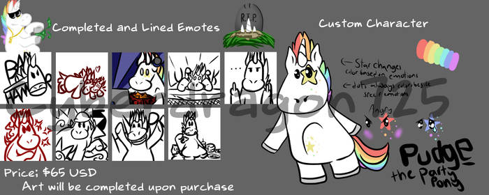 Character and Emotes for sale