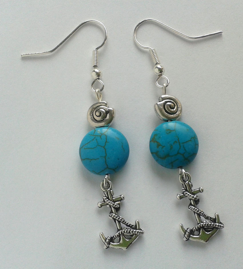 maritime flair with real turquoise silver filigree by syn-O-nyms