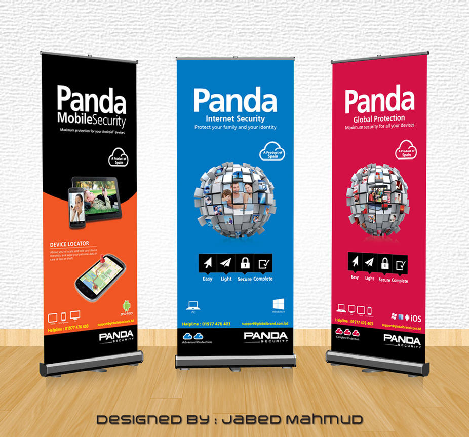 panda security x banner design by jabedoppsdesign on