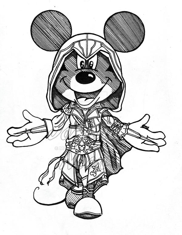 Assassini Mouse (Right out of my sketchbook) by mediodia91