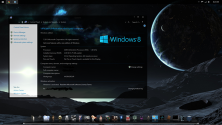 windows 8.1 pimped and now the watermark is gone by DaemonHannibal669