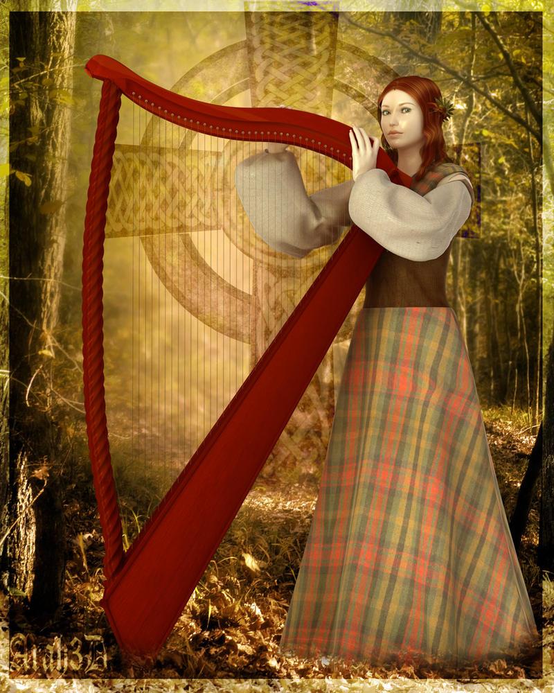 Celtic Harp by Arah019