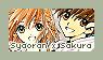 Stamp | Syaoran x Sakura by BluAjisai