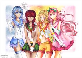 Senshi comm. || Sailor Seasons [+ Speedpaint] by BluAjisai