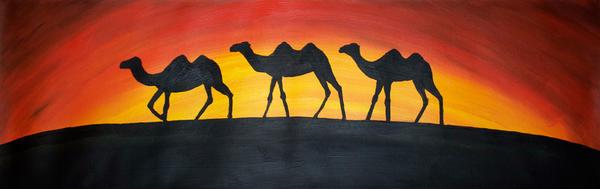 Camel Caravan by JonasEklundh