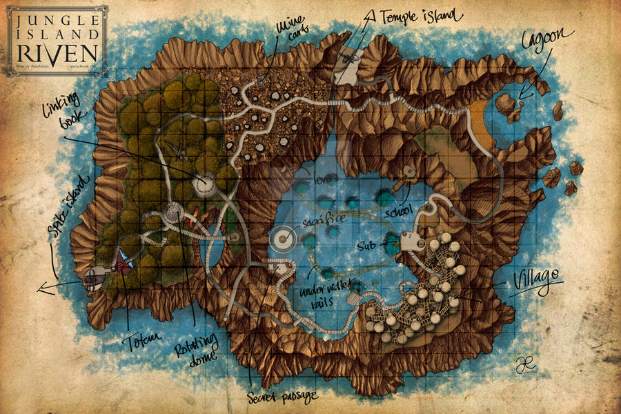 Riven - Jungle Island Map by JonasEklundh