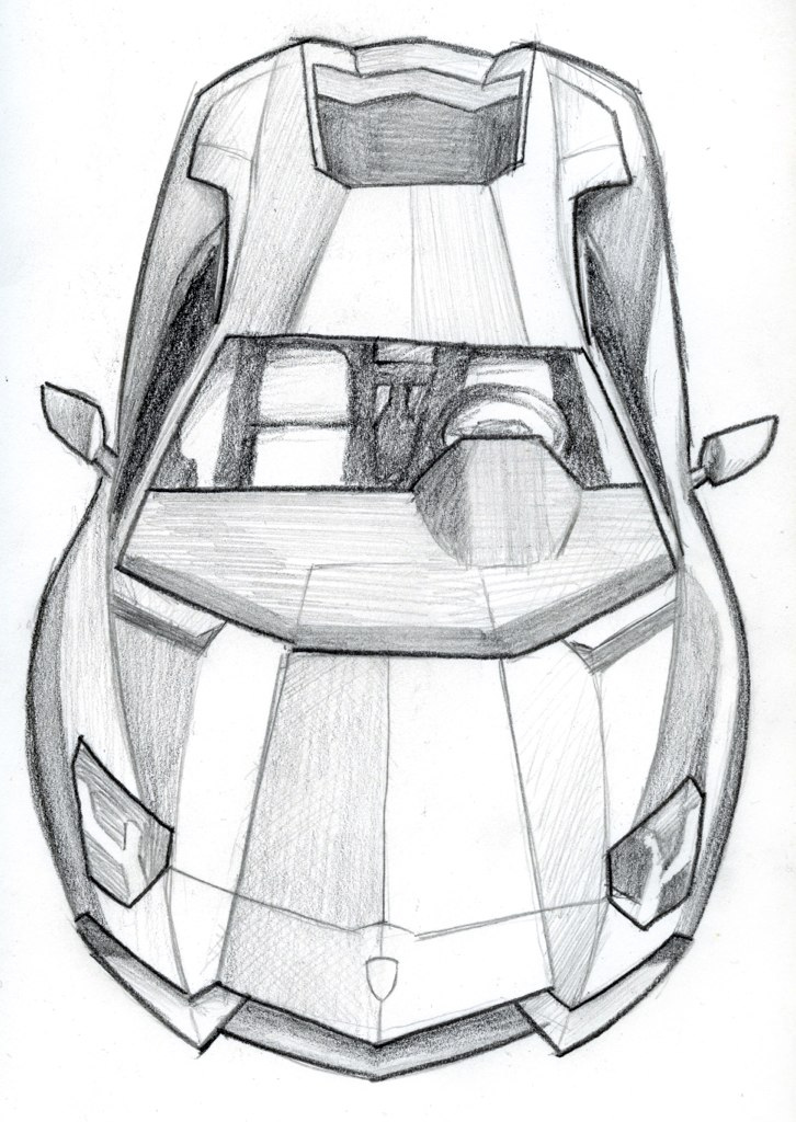 Lamborghini Aventador Front View Drawing Lamborghini Super Car