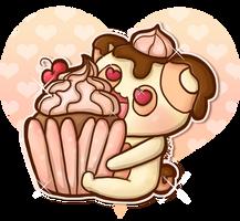 Cupcake Panda by Crystal-Moore