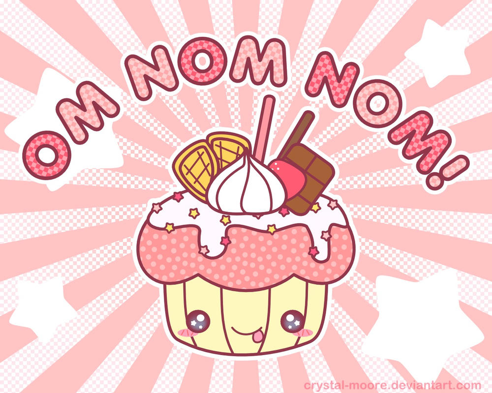 Free Wallpaper: OM NOM NOM! by Crystal-Moore
