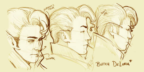 Butch Sketches by zombiebreton