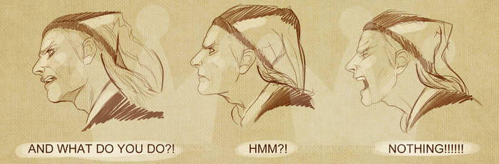 Cicero Face Drawings by zombiebreton